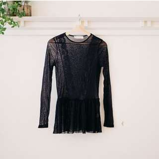 Vintage Lace Long-sleeve Top