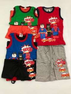 Superhero sleeveless set