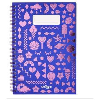 Smiggle ringlet note book A5 metallic purple rm13 NEW