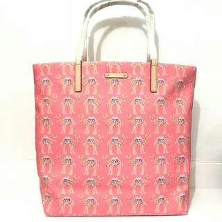 Kate Spade camel bon shopper sz 40/32x25 pink multi