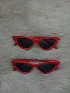 RED CATEYE SUNGLASSES