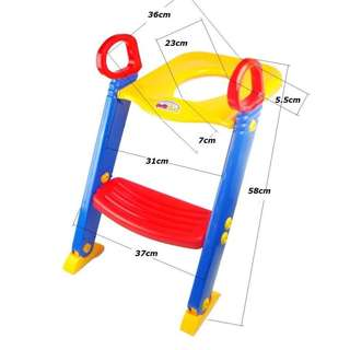 Children's Toddler Toilet Trainer with Ladder (Potty Seat with Step Stool)