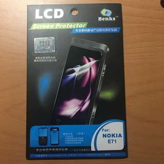 Nokia N71 screen protector 保護貼