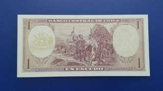 南美洲智利共和國紙幣(原居民係印第安人)講西班牙語UNC,只郵寄