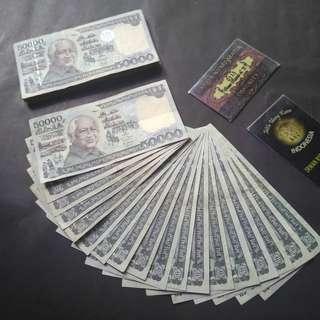 Uang lama 50 ribu soeharto