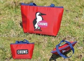 日本 chums 小號便攜飯盒袋鋁箔加厚保溫袋學生午餐包拉鍊款