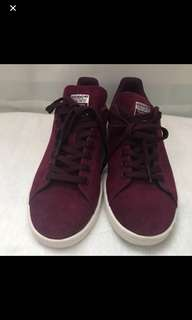 Adidas Maroon Suede Stan Smith