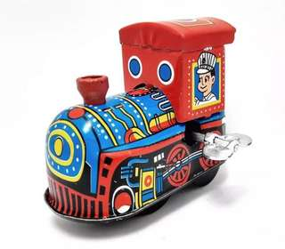 鐵皮火車玩具 Vintage metal train toy car