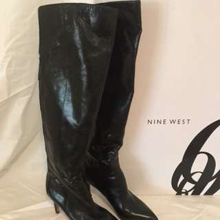 Nine West leather over knee boots s