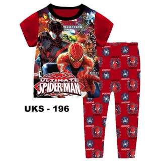 Ultimate Spider Man Short Sleeve Pyjamas For (2 Yrs To 7 Yrs)