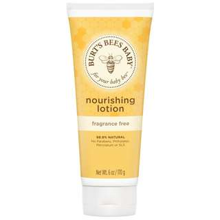 Burt's Bees Baby Nourishing Lotion, Fragrance Free, 6 oz