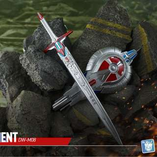 Dr Wu DW-M08 Judgement Metallic - Transformers The Last Knight TLK Voyager Optimus Prime - Sword & Shield (Reissue)
