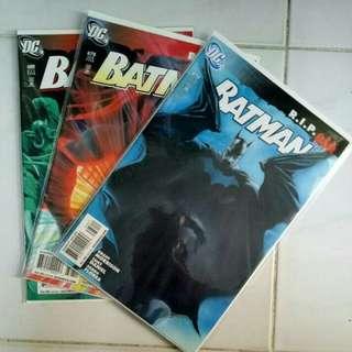 DC COMICS BATMAN RIP #676 - 681 COMPLETE