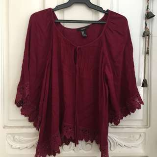 FOREVER 21 Red Long Sleeves