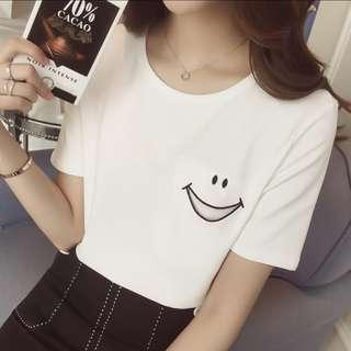 White smiley t-shirt