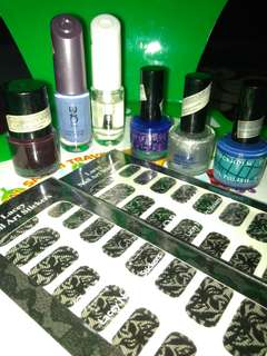 Nail polish / kuteks + free nail art stikers 2 sheet take all 50rb
