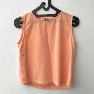 Tanktop Peach Korean Shirt