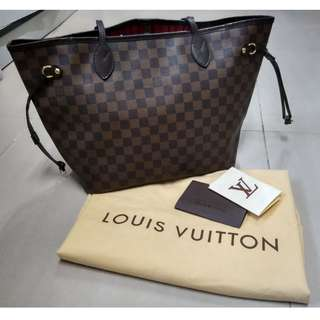 Authentic Louis Vuitton (LV) Neverfull MM Damier Ebene