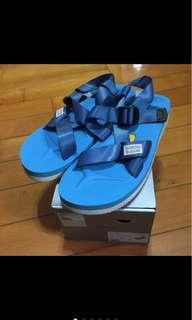 🚚 5折!Suicoke chin2-v 藍色綁帶涼鞋(厚底款)