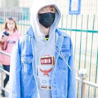(PO) Idol Producer Cai Xukun ROBOT Sweater Top Shirt 6301da04e
