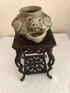 A unusual Porcelain pig-Head waterpot