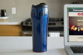 Mighty Mug Go Stainless  Steel Blue