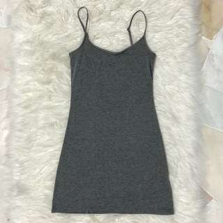 DARK GREY bodycon dress