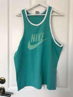 Retro Teal Coloured Nike Sportswear Singlet