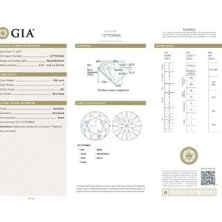 GIA 認證 1.00CT   F color  SI2 鑽石