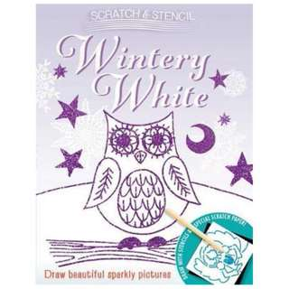 😀😀😀(Brand New) Scratch & Stencil Wintery White    By: Running Press Paperback