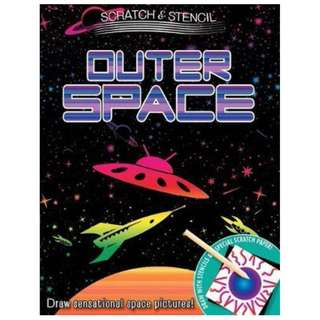 😀😀😀(Brand New) Scratch & Stencil Outer Space  By: Running Press Paperback