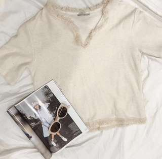 Cream Zara t-shirt