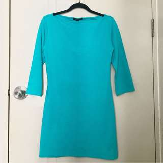 Tiffany Blue Long Sleeve Bodycon Dress