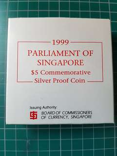 1999 Parliament of Singapore Silver coin