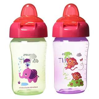 Philips AVENT My Sip N Click Cup, 12 Ounce, Set of 2