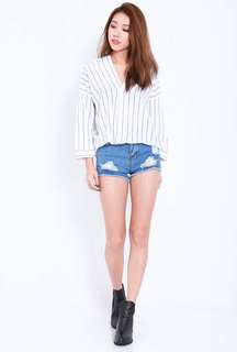 TPZ Lounge Shirt Top in White