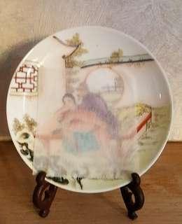 絕版70 年代春宮瓷碟及筆筒