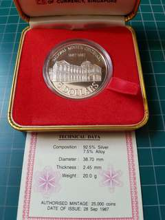 1987 Centenary of the National Museum $5 Silver coin