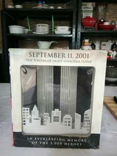 Limited edition (911 Twin Towers)Tealight lamp souvenir