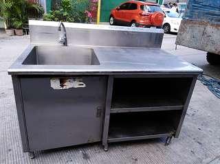 single tub sink