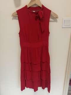 100% Silk Red Dress 斯文裙