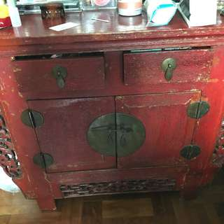 Red antique altar table