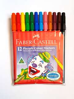 12pk Faber Castell Texta Markers - USED