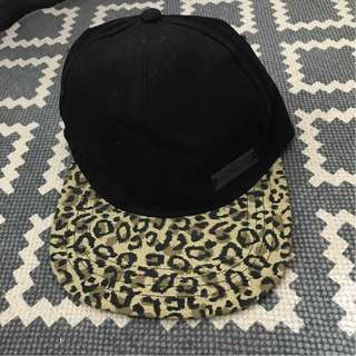 FOLDED AND HUNG leopard print cap