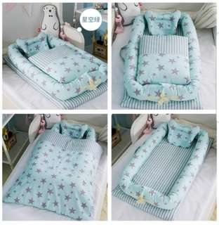 Baby portable foldable travel bed / tilam
