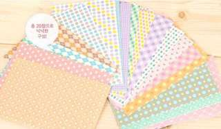 Milky Pastel Color Pattern Polaroid Sticker