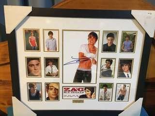 Zac Efron signed memorabilia