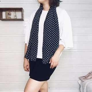 Polka dots scarf