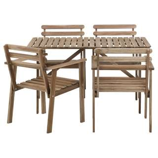 IKEA Askholmen Table and 4 chairs Outdoor Dining Set