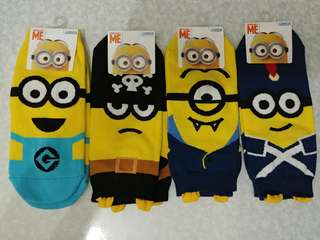 Minions 卡通襪 韓國做